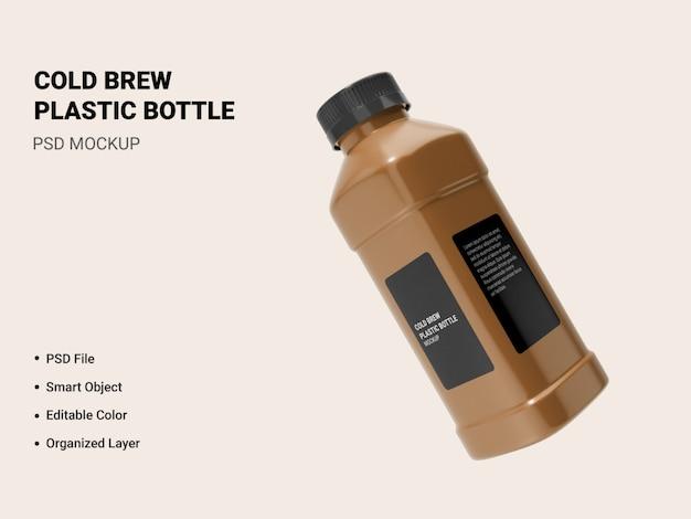 Maquete de garrafa de cerveja fria isolada Psd Premium