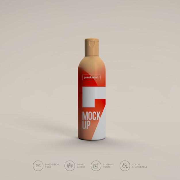 Maquete de garrafa de spray cosmético psd premium Psd Premium