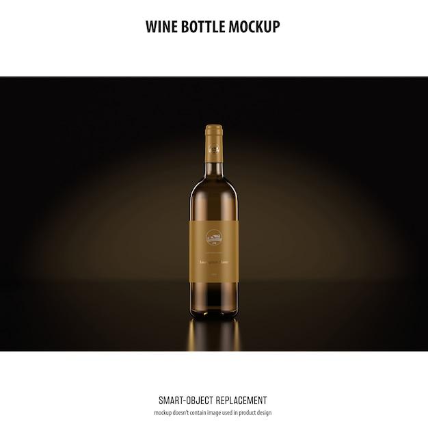 Maquete de garrafa de vinho Psd grátis
