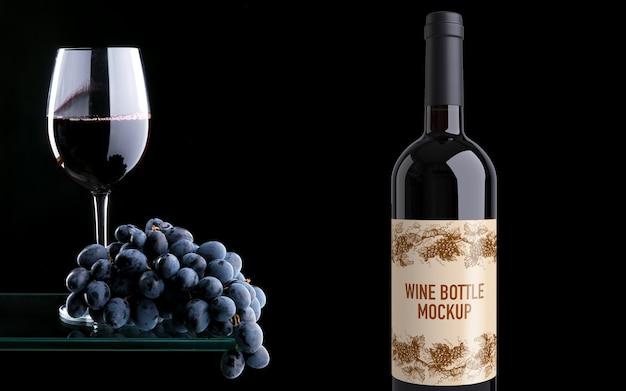 Maquete de garrafa de vinho Psd Premium