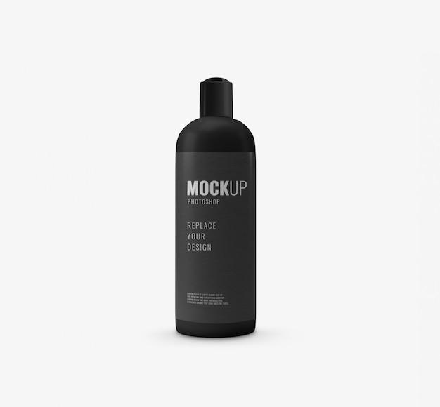 Maquete de garrafa mínima preta Psd Premium