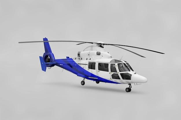 Maquete de helicóptero realista Psd grátis