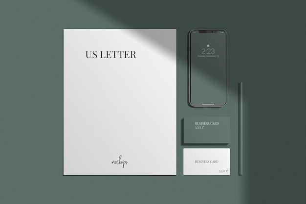 Maquete de identidade visual / marca elegante Psd Premium