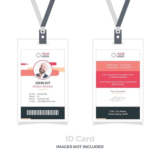 Maquete de identificação vermelha com fita adesiva Psd Premium
