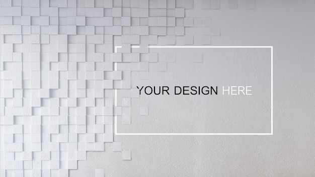 Maquete de imagem de renderização 3d de muro de concreto Psd Premium