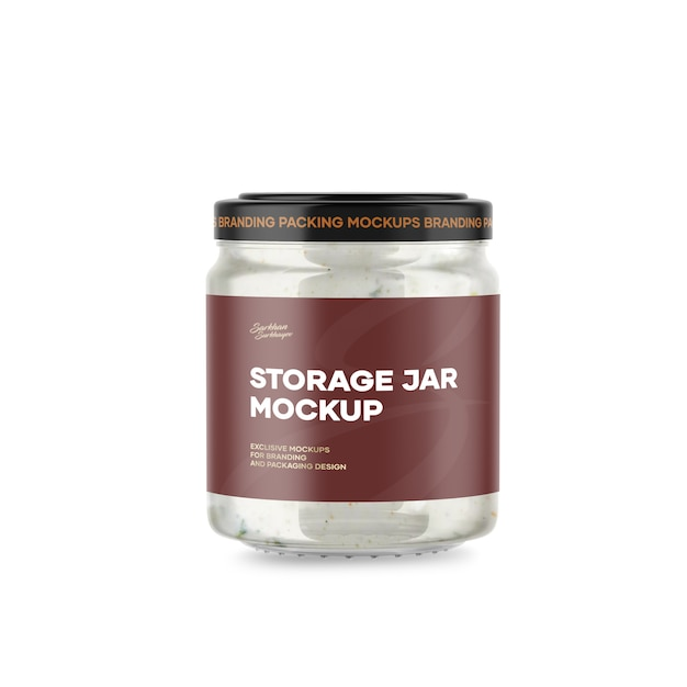 Maquete de jar de armazenamento Psd Premium