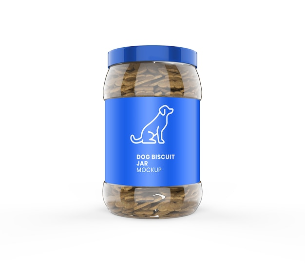 Maquete de jarro de biscoito de cachorro Psd Premium