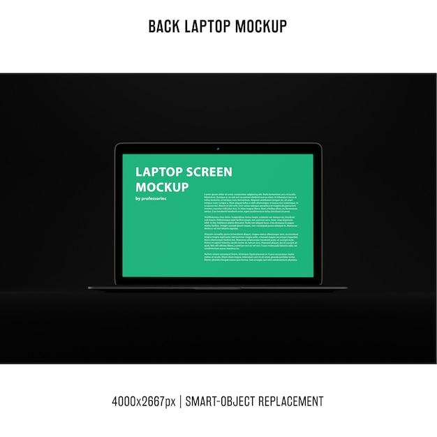 Maquete de laptop preto Psd grátis