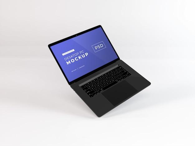 Maquete de laptop realista Psd Premium
