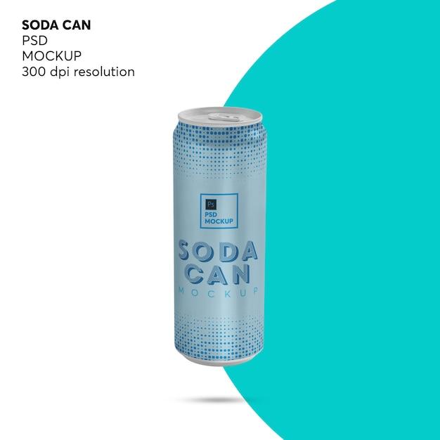 Maquete de lata de refrigerante de bebida energética Psd Premium