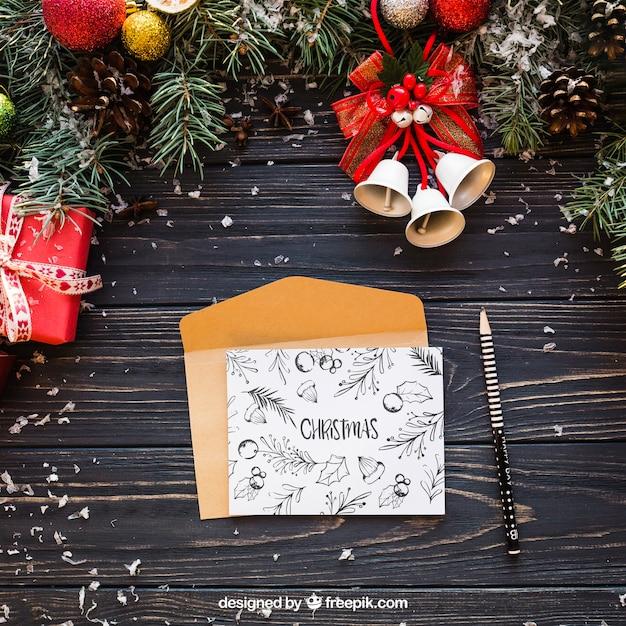 Maquete de letras elegante com design de natal Psd grátis