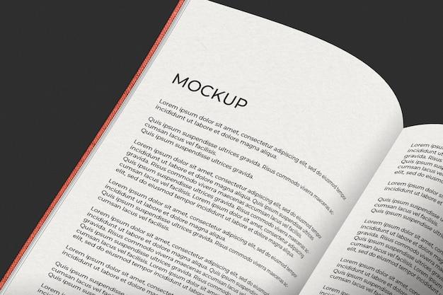 Maquete de livro aberto Psd grátis