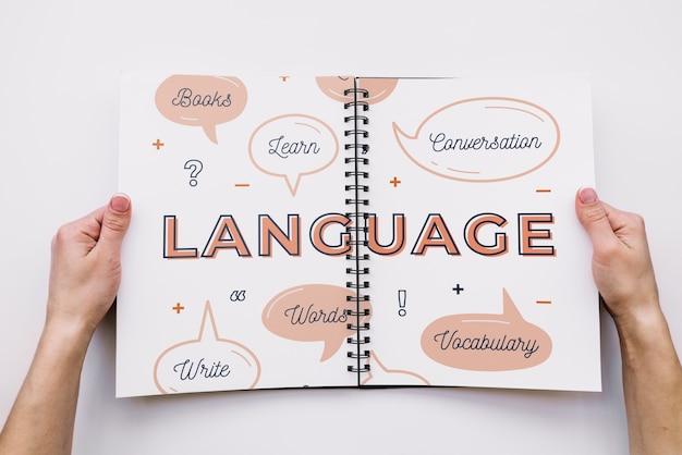 Maquete de livro de caneta Psd grátis