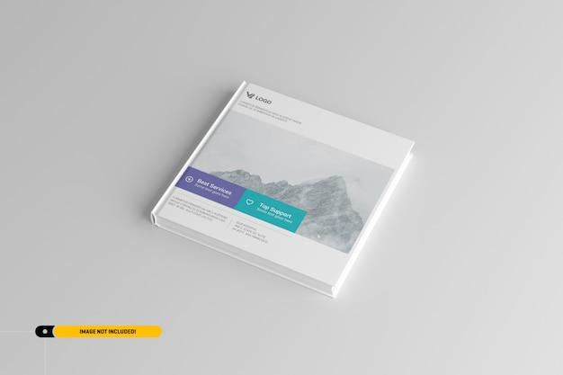Maquete de livro de capa dura quadrada Psd Premium