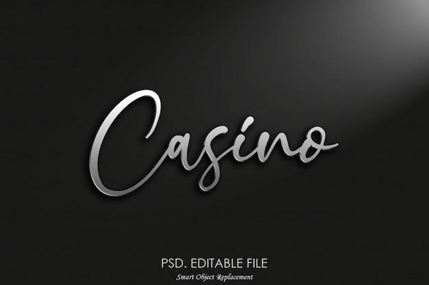 Maquete de logotipo 3d do cassino Psd Premium