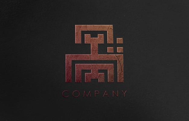 Maquete de logotipo 3d para empresa de negócios Psd Premium