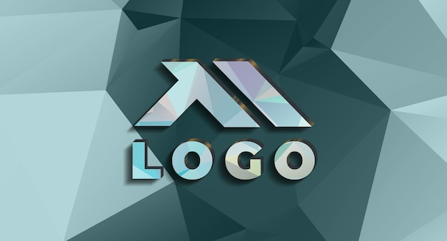 Maquete de logotipo 3d realista na parede Psd Premium