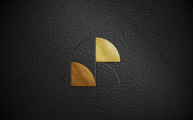 Maquete de logotipo de folha de ouro Psd Premium