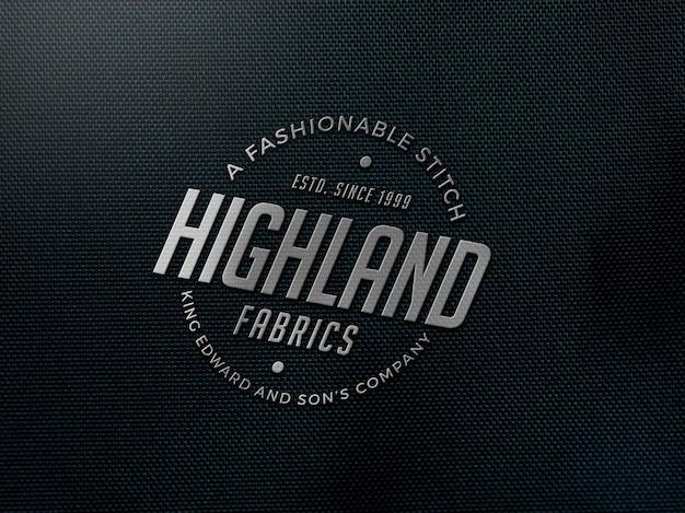 Maquete de logotipo de tecido realista Psd Premium