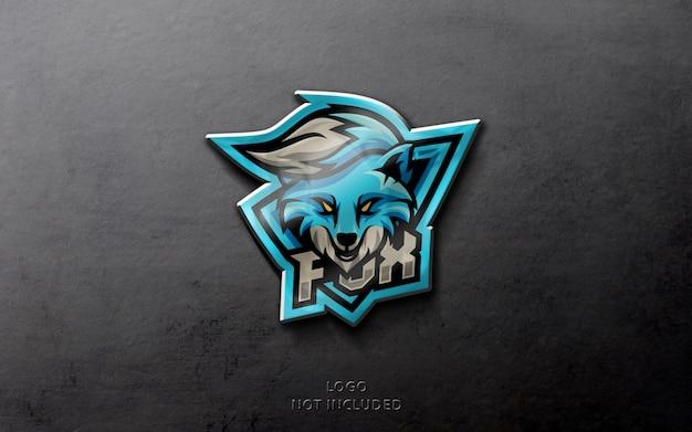 Maquete de logotipo esporte realista Psd Premium