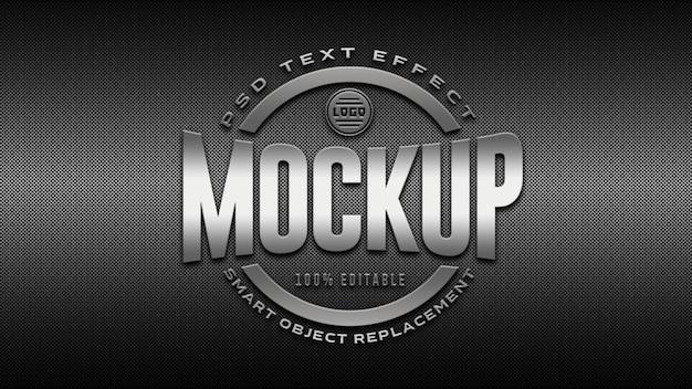 Maquete de logotipo prata 3d Psd Premium