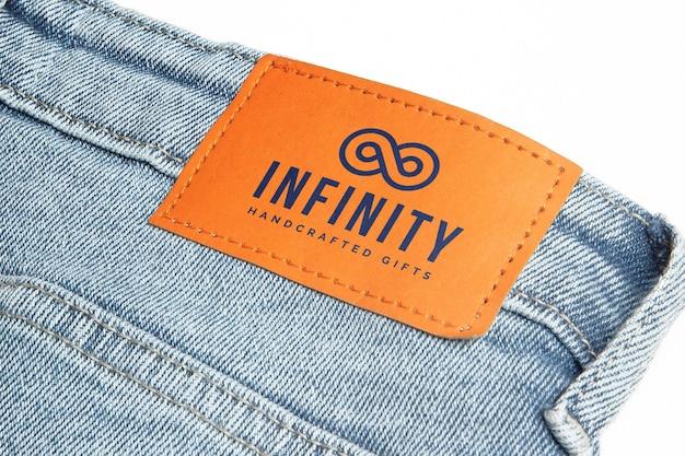Maquete de marca de jeans Psd grátis