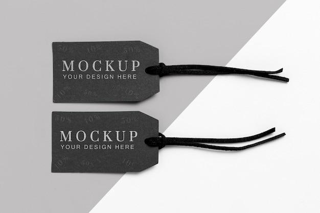 Maquete de marcas pretas minimalistas de roupas Psd grátis