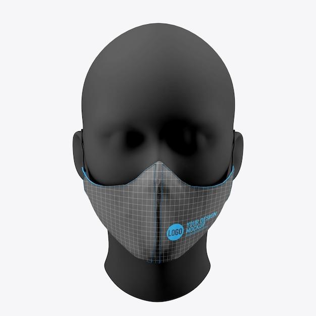 Maquete de máscara facial médica isolada Psd Premium