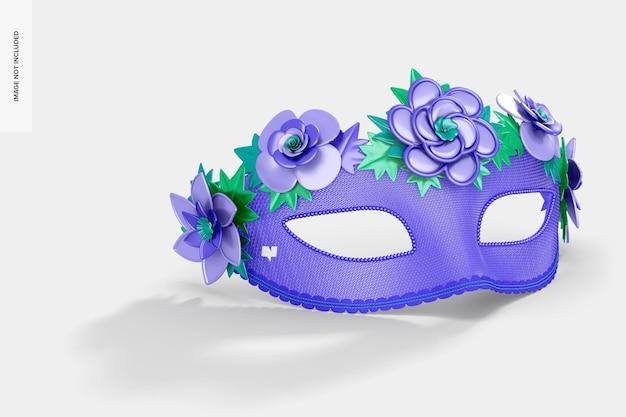 Maquete de máscara facial veneziana floral Psd Premium