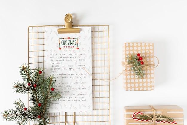 Maquete de menu de natal com prancheta Psd grátis