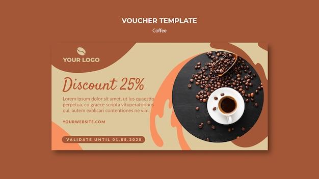 Maquete de modelo de comprovante de conceito de café Psd grátis