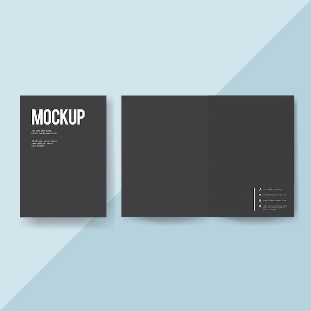 Maquete de modelo de folheto de papel em branco Psd grátis
