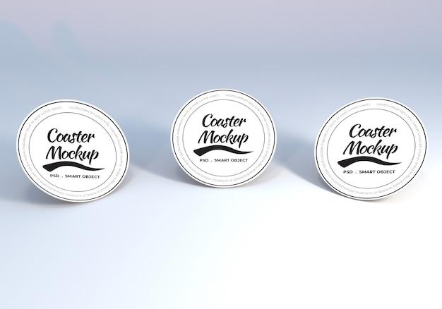 Maquete de montanha-russa de mesa circular para apresentação Psd Premium