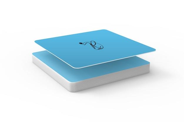 Maquete de montanhas-russas quadrada 3d Psd Premium