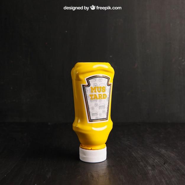 Maquete de mostarda Psd grátis