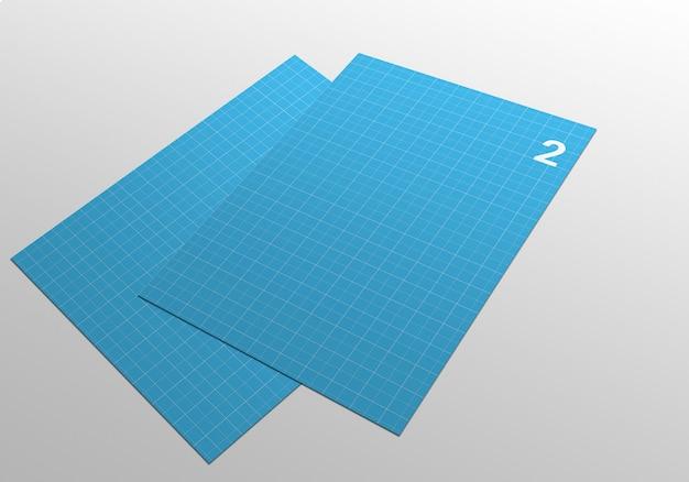 Maquete de página a4 para flyer, fatura, papel timbrado e outros Psd Premium