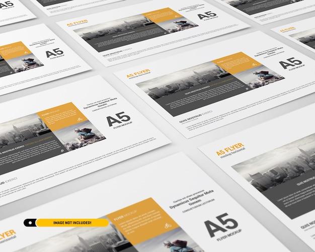 Maquete de panfleto de paisagem Psd Premium