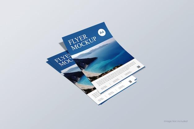 Maquete de panfleto e cartaz, maquete de fatura e papel timbrado, modelo de currículo e papel a4 Psd Premium