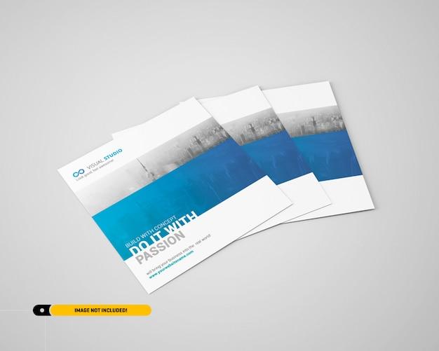 Maquete de panfleto quadrado Psd Premium