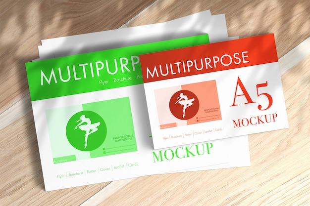Maquete de papéis a4 multiuso Psd grátis