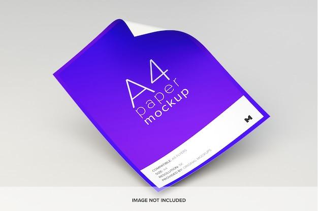 Maquete de papel a4 a voar Psd Premium