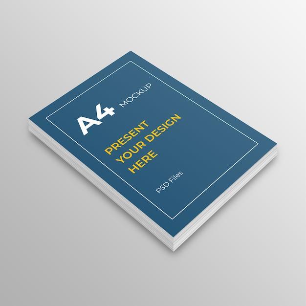 Maquete de papel a4. a4 capa de livro, folheto, maquete de folheto Psd Premium
