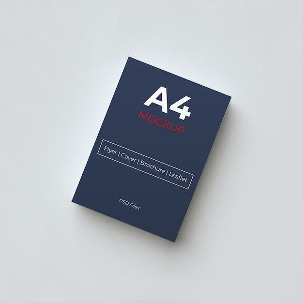 Maquete de papel a4 Psd Premium