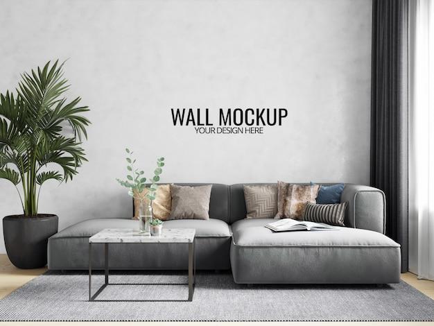 Maquete de papel de parede interior Psd Premium