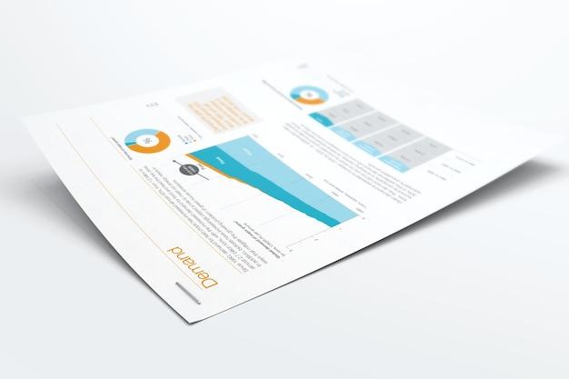 Maquete de papel grampeado Psd Premium