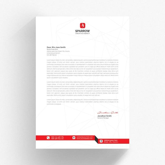 Maquete de papel timbrado da empresa isolada Psd Premium