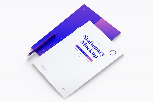 Maquete de papel timbrado Psd Premium