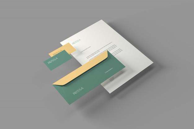 Maquete de papelaria de marca Psd Premium