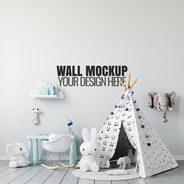 Maquete de parede interior de sala de jogos para crianças Psd Premium