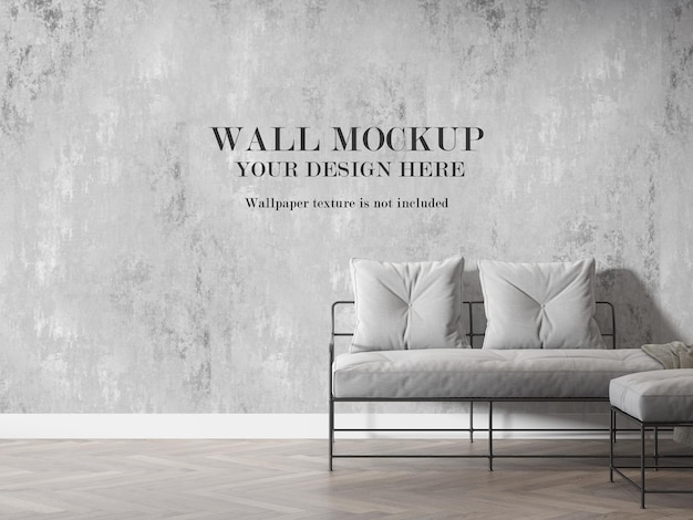 Maquete de parede interna em renderização 3d Psd Premium